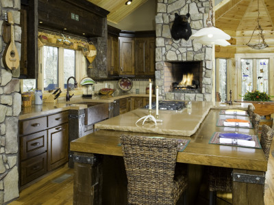 Deep Creek Cabin Kitchen and Bath